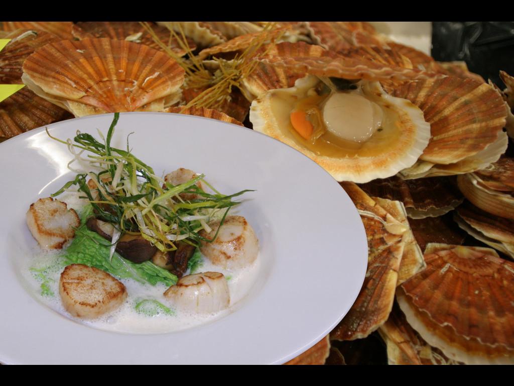 104 5 coquilles st jacques restaurant l 39 cailler c eric lorang - Restaurant l ecailler port en bessin ...